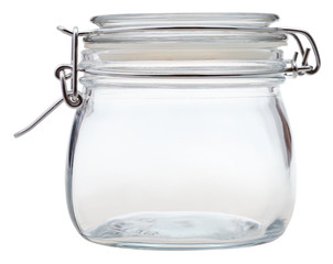 closed Swingtop Bale glass jar isolated on white background