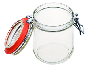 Swingtop Bale glass jar isolated on white
