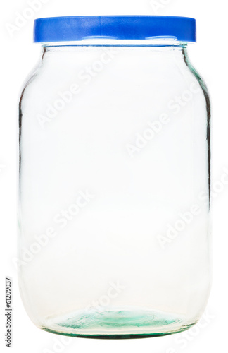 closed Gallon glass jar isolated