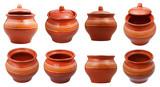 set of earthenware pots