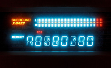 scale of sound volume on indicator board