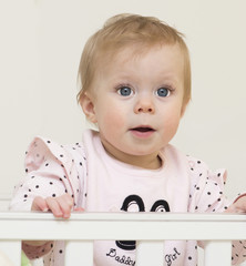 Portrait of the baby of  9  months old.