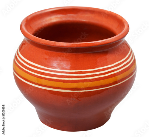 open ceramic pot