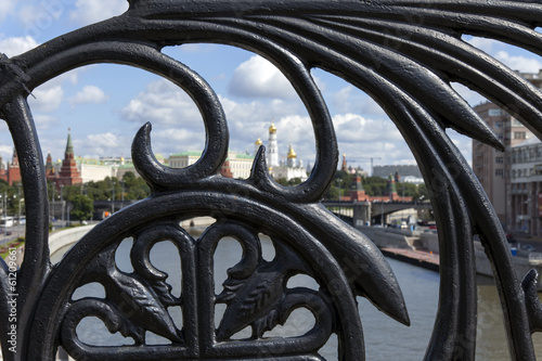 Moscow, Russia . Patriarchal bridge grating