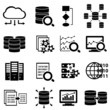 Big data and technology icons - 61209823