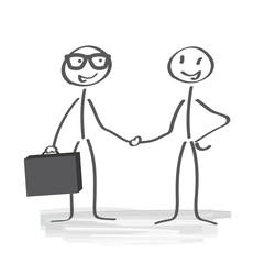 Vertragsabschluss, shake hands