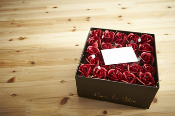 Flowers in gift box
