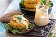 Vegan burgers with sweet potato and chickpeas
