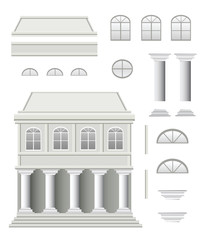 Set of architectural details