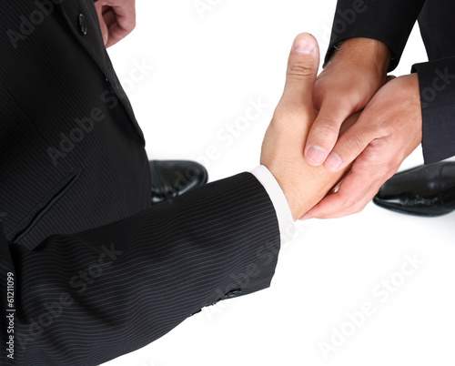 handshake isolated on white background.