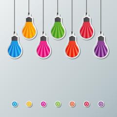 paper light bulbs