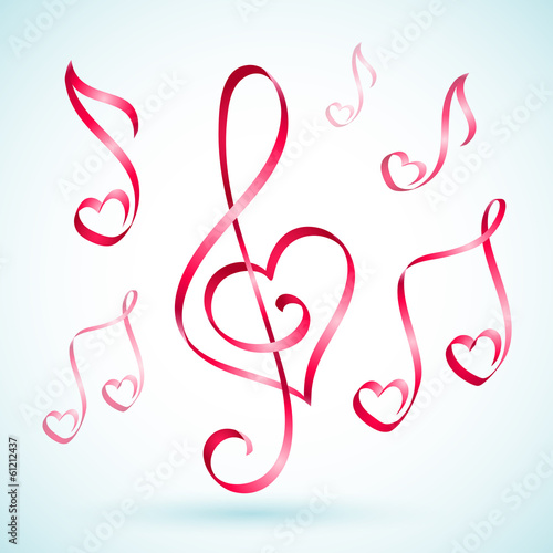 Vector Ribbon music notes