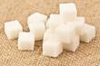 sugar blocks on burlap
