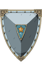 Medieval Shield vector 3