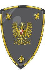 Medieval Shield vector 1