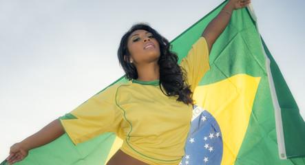 Brazil soccer football fan