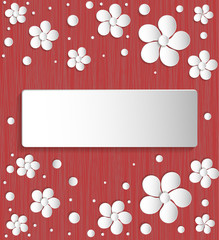 paper flowers background