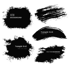 black blobs