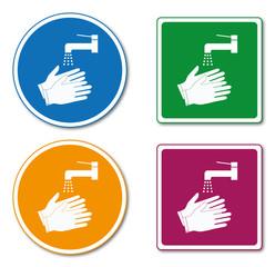 Panneau lavage des mains.