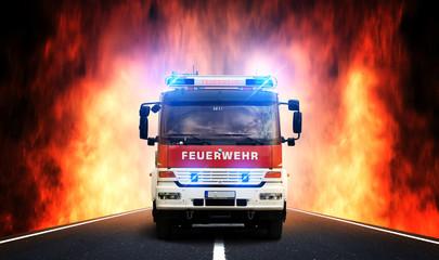 Feuerwehr-Anfahrt