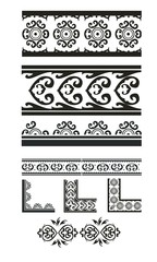 vector set : decorative pattern