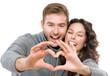 Valentine couple isolated on white background