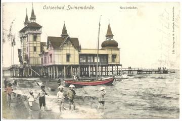 Swinemünde, Seebrücke 1902 (hist. Postkarte)