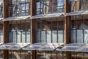 Solar Panels on the Facade of an Office Building as a Solution f