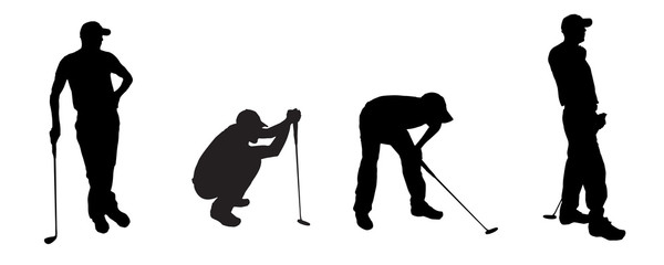 vector silhouette golf