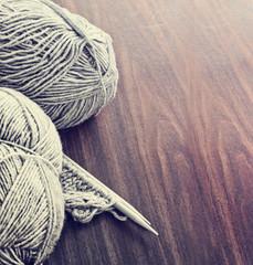 Natural wool knitting background