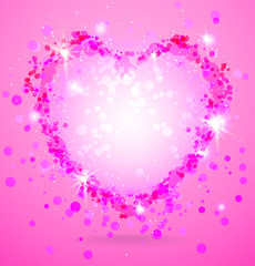 Shining pink heart
