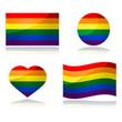 Rainbow flag set