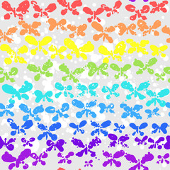 Сolorful background with butterfly