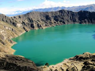 équateur, laguna quilotoa