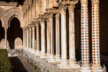 Pillars of Cathedral of Monreale, Sicily; Italy