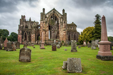 Melrose Abbey, Scotland, Great Britain