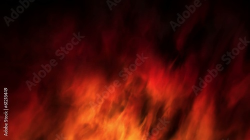 Loopable slow motion abstract fractal style fire background