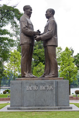 Monument of Ho Chi Minh and Ton Duc Thang, presidents of Vietnam