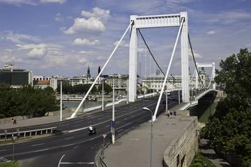 Erzsebet bridge in Budapest, Hungary
