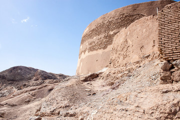 Zoroastrinan Tower of Silence in Yazd, Iran