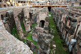 Inside of Rome's colosseum