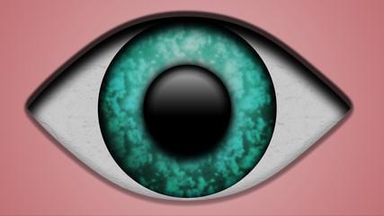 Occhio acquamarina
