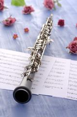 Oboe mit Partitur und Sommerfeeling