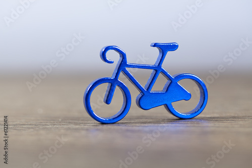 small metallic bicycle
