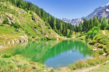 Der Schwarzsee bei Blatten im Lötschental