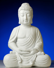 Statue of Buddha in lotus position