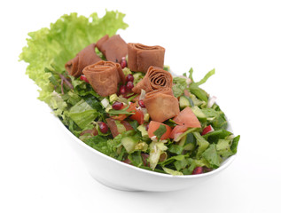 fattouch, fattoush lebanese salad isolated