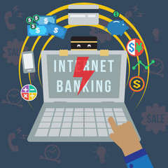 Internet banking security, vector format