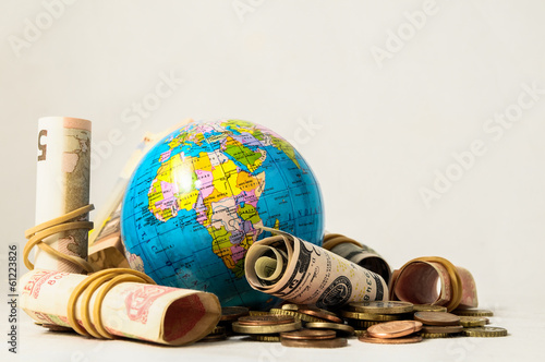 Globe Earth and Money