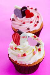 Pink love cupcake a